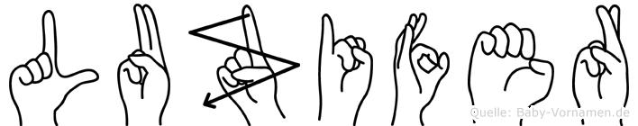 Luzifer in Fingersprache für Gehörlose