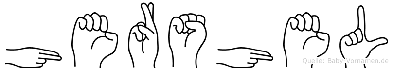 Hershel in Fingersprache für Gehörlose