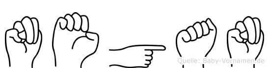 Negan in Fingersprache für Gehörlose