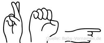 Reg in Fingersprache für Gehörlose