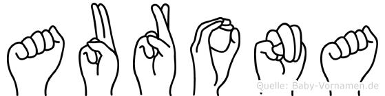 Aurona in Fingersprache für Gehörlose
