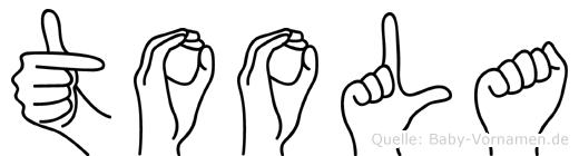 Toola im Fingeralphabet der Deutschen Gebärdensprache