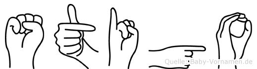 Stigo in Fingersprache für Gehörlose