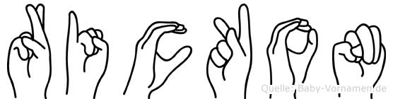 Rickon in Fingersprache für Gehörlose