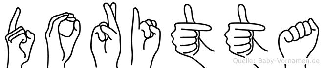 Doritta im Fingeralphabet der Deutschen Gebärdensprache