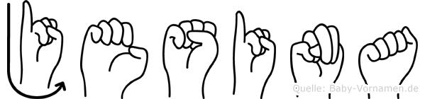 Jesina in Fingersprache für Gehörlose