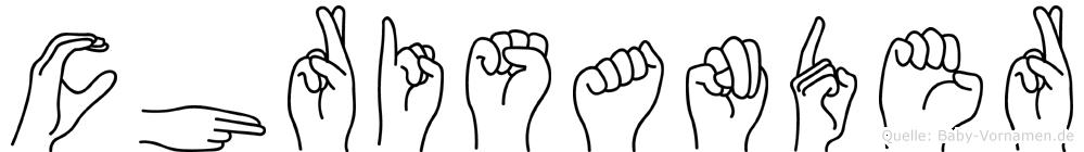 Chrisander in Fingersprache für Gehörlose