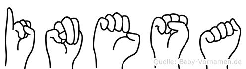 Inesa im Fingeralphabet der Deutschen Gebärdensprache