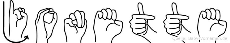 Jonette in Fingersprache für Gehörlose