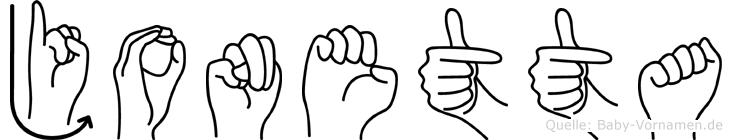Jonetta in Fingersprache für Gehörlose