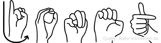 Jonet in Fingersprache für Gehörlose