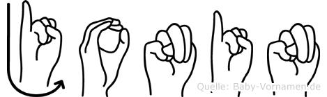 Jonin in Fingersprache für Gehörlose