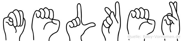 Melker in Fingersprache für Gehörlose