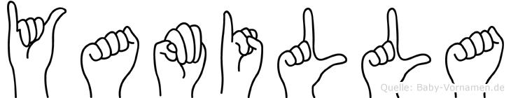 Yamilla in Fingersprache für Gehörlose