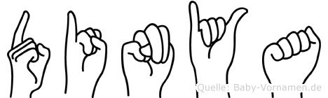 Dinya in Fingersprache für Gehörlose
