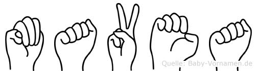 Mavea in Fingersprache für Gehörlose