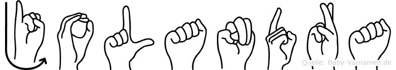 Jolandra in Fingersprache für Gehörlose