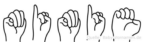 Mimie in Fingersprache für Gehörlose