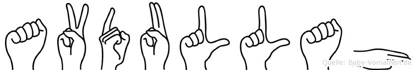 Avdullah im Fingeralphabet der Deutschen Gebärdensprache