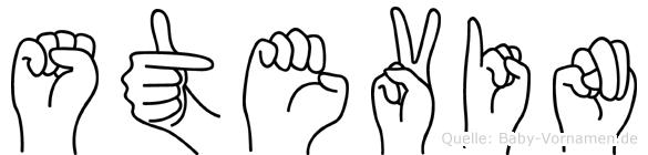 Stevin im Fingeralphabet der Deutschen Gebärdensprache