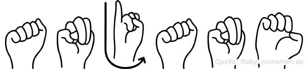 Anjane in Fingersprache für Gehörlose