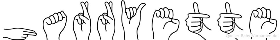 Harryette in Fingersprache für Gehörlose