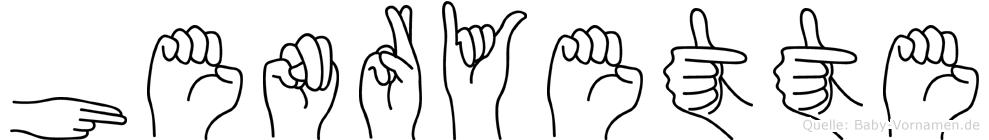 Henryette in Fingersprache für Gehörlose