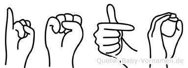Isto in Fingersprache für Gehörlose