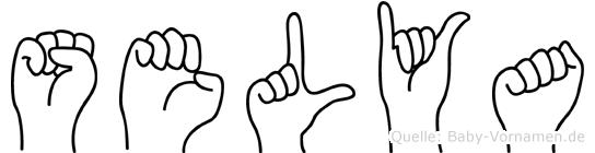 Selya in Fingersprache für Gehörlose