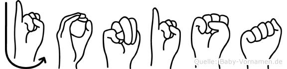 Jonisa in Fingersprache für Gehörlose