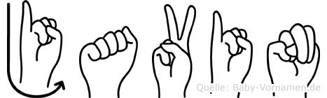 Javin in Fingersprache für Gehörlose
