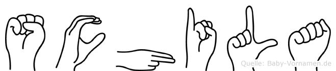 Schila in Fingersprache für Gehörlose