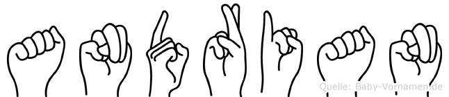 Andrian im Fingeralphabet der Deutschen Gebärdensprache