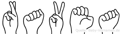Ravea in Fingersprache für Gehörlose