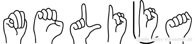 Melija in Fingersprache für Gehörlose