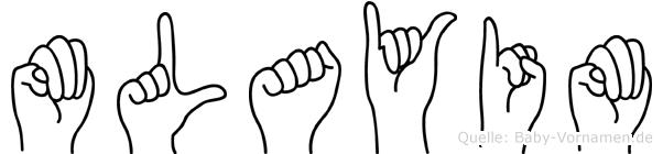 Mülayim im Fingeralphabet der Deutschen Gebärdensprache
