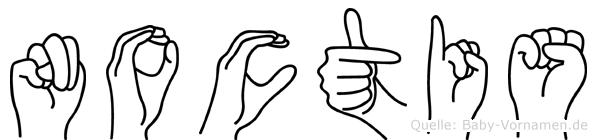 Noctis in Fingersprache für Gehörlose