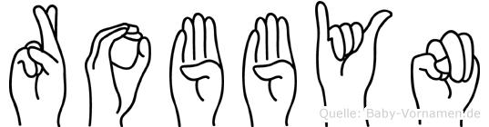 Robbyn im Fingeralphabet der Deutschen Gebärdensprache