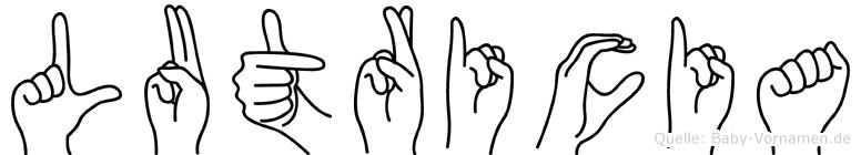 Lutricia in Fingersprache für Gehörlose
