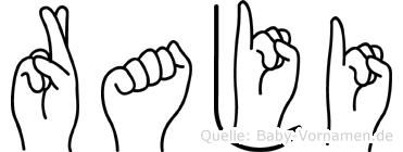 Raji in Fingersprache für Gehörlose