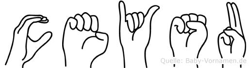 Ceysu in Fingersprache für Gehörlose
