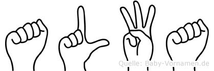 Alwa in Fingersprache für Gehörlose