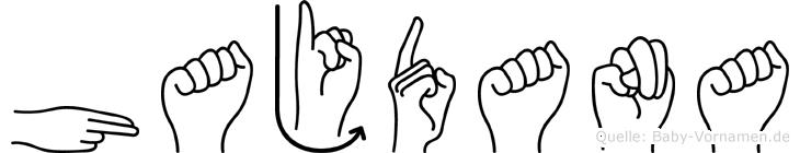 Hajdana in Fingersprache für Gehörlose