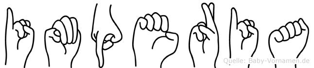 Imperia im Fingeralphabet der Deutschen Gebärdensprache