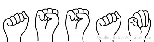 Assam in Fingersprache für Gehörlose