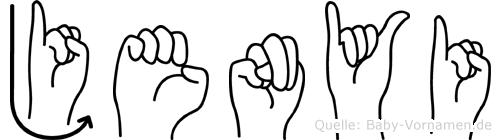 Jenyi in Fingersprache für Gehörlose