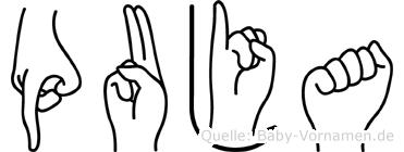 Puja in Fingersprache für Gehörlose
