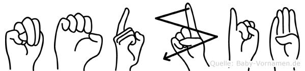 Nedzib in Fingersprache für Gehörlose