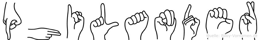Philander in Fingersprache für Gehörlose