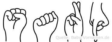 Sarp in Fingersprache für Gehörlose
